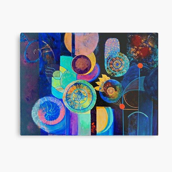 Multicolored mandalas Metal Print
