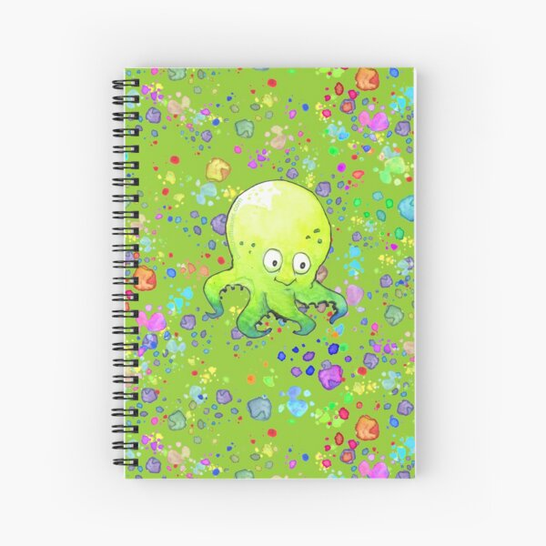 Octobaby Brother Bobby Pattern Spiral Notebook