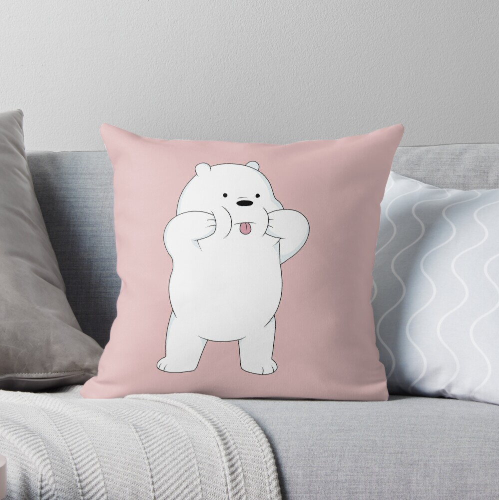 We Bare Bears - Ice Bear Throw Pillow