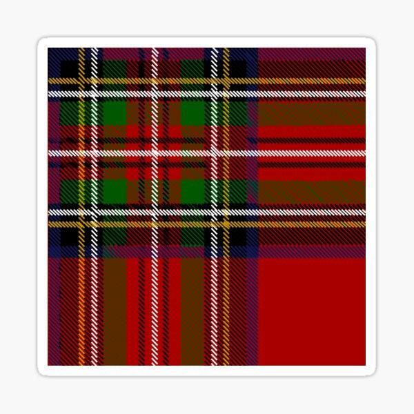 Checkered pattern in Scottish style. Tartan. Sticker