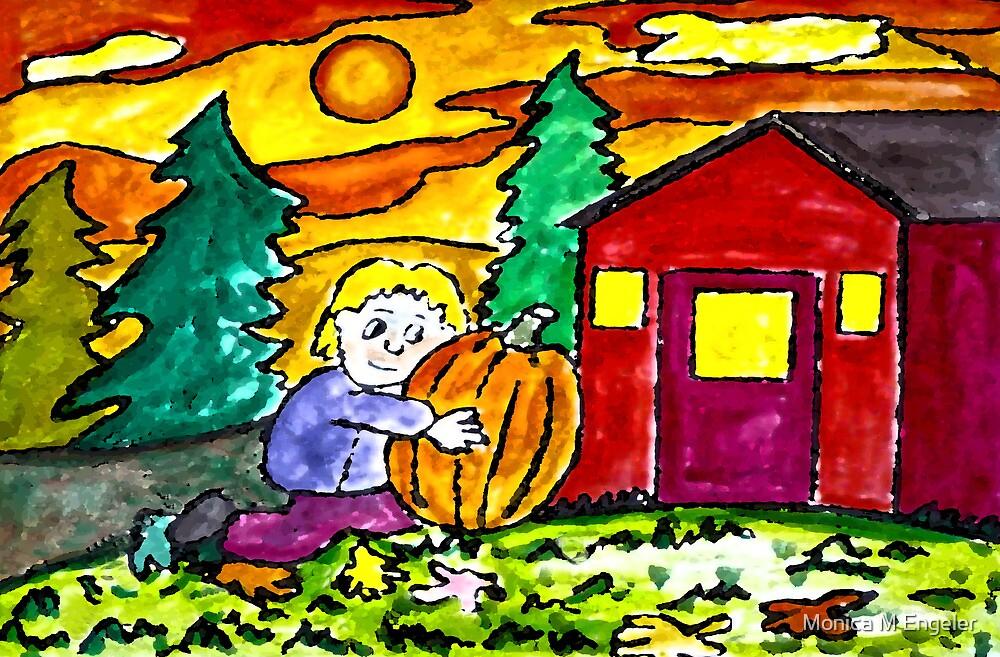 Preparing for Halloween by Monica Engeler