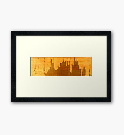 Superhero City Framed Print