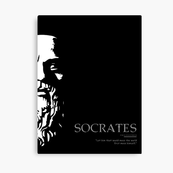 A Quote By Socrates Canvas Print
