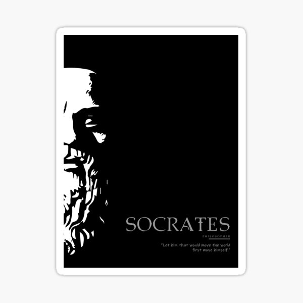 A Quote By Socrates Sticker