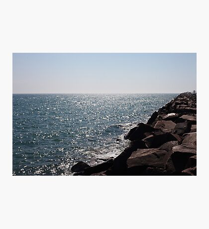 Glistening Horizon Lake Michigan Scene Photographic Print