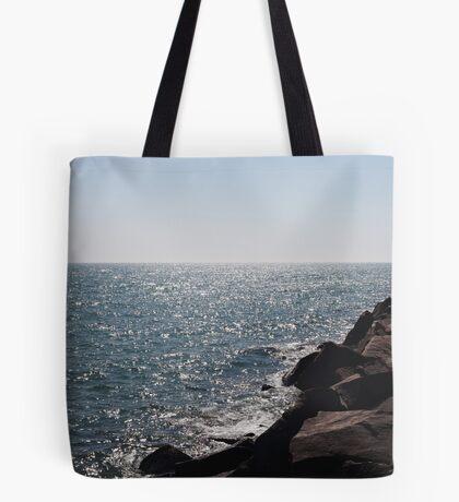 Glistening Horizon Lake Michigan Scene Tote Bag
