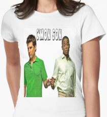 """Psych """"C'mon Son""""  Womens Fitted T-Shirt"""