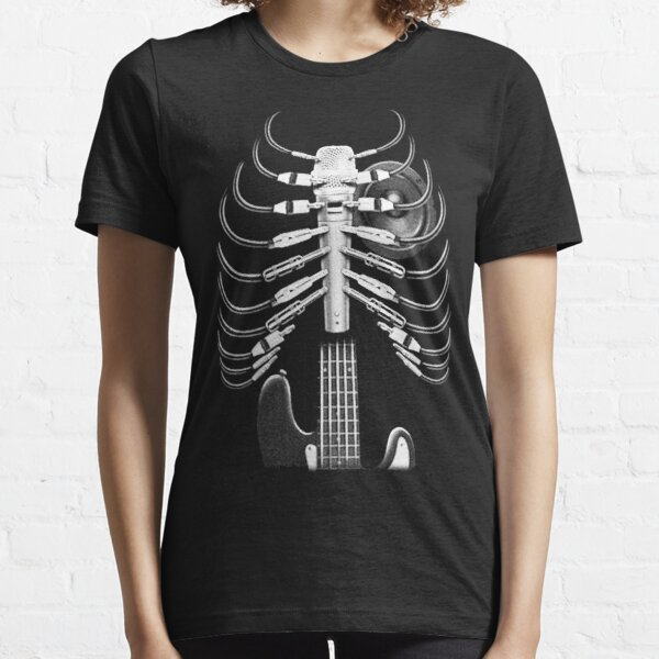 Guitar Skeleton Microphone Rock Music Lovers Essential T-Shirt