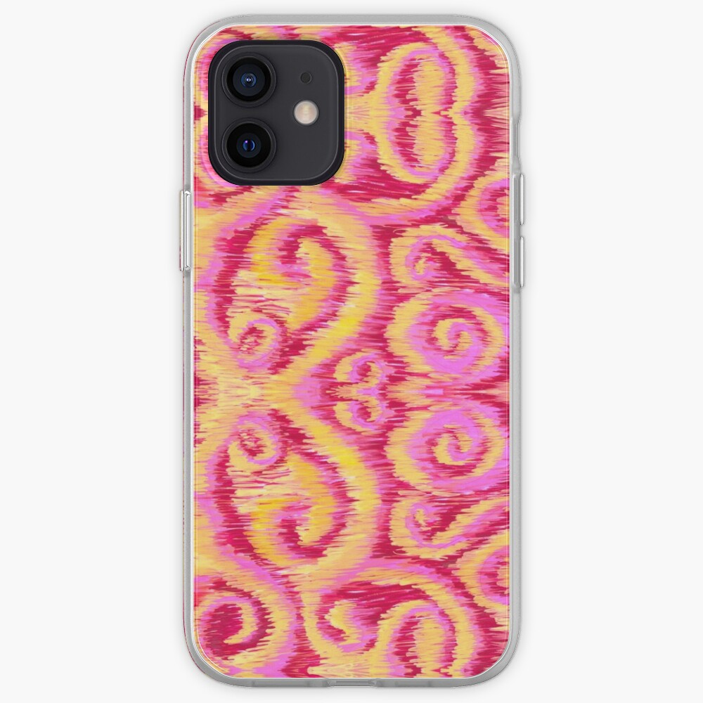 pink and golden ikat iPhone Case & Cover