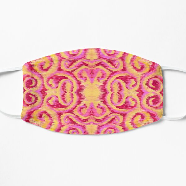 pink and golden ikat Mask