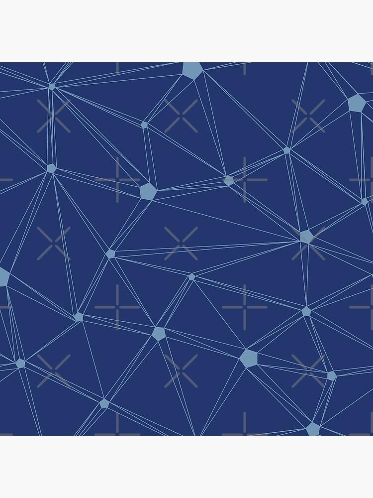 Pentagon grid classic blue by nobelbunt