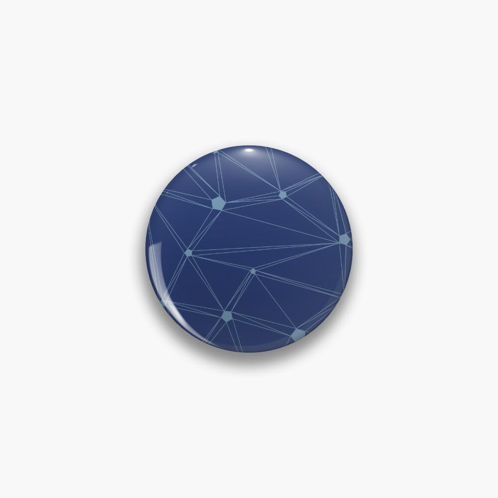 Pentagon grid classic blue Pin