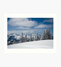 Austrian snow Art Print