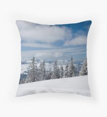 Austrian snow Throw Pillow