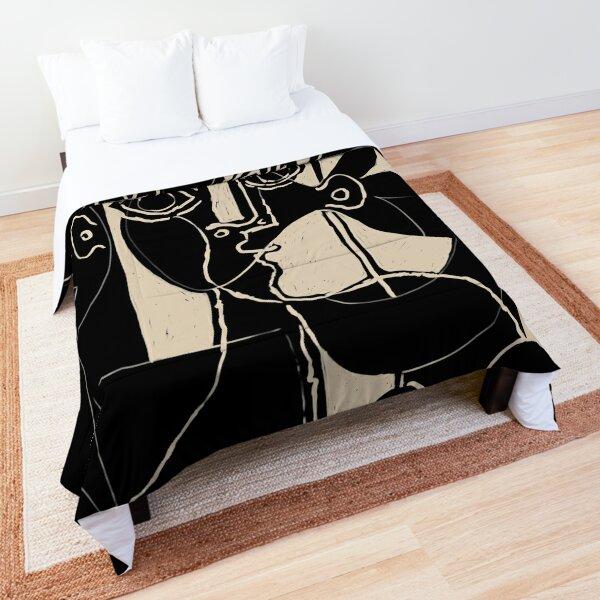 Picasso Woman's head #8 black line Comforter