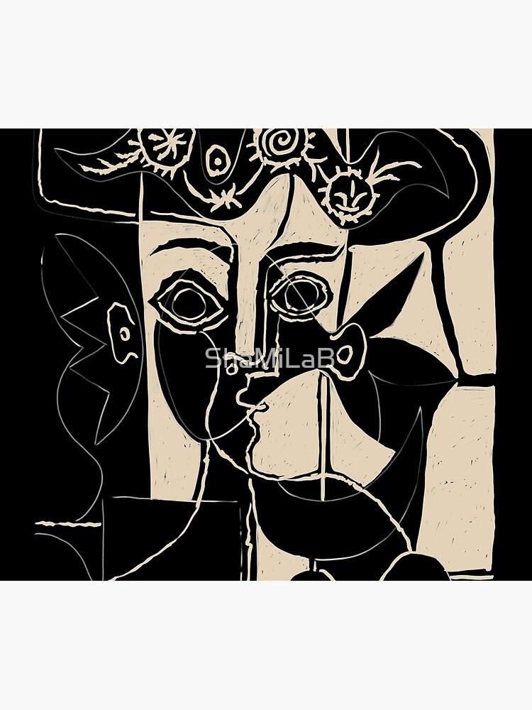 Picasso Woman's head #8 black line by ShaMiLaB