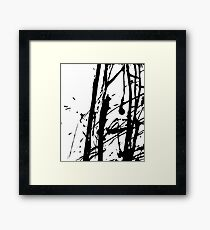 Ink splashes. Abstract stain pattern Framed Print