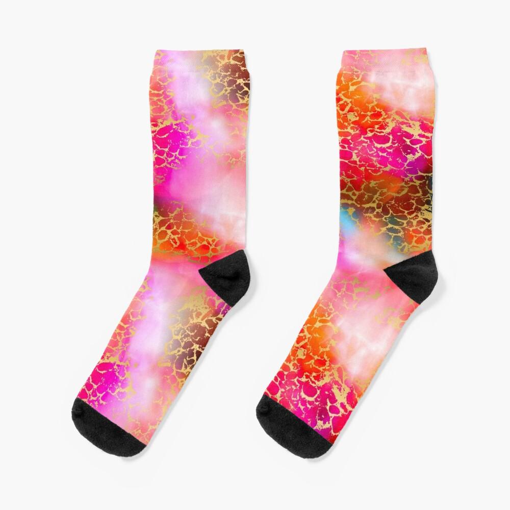 Hot gold color fancy Socks