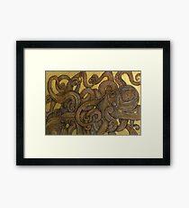 Dueling Octopus (Sucker Punch) Framed Print