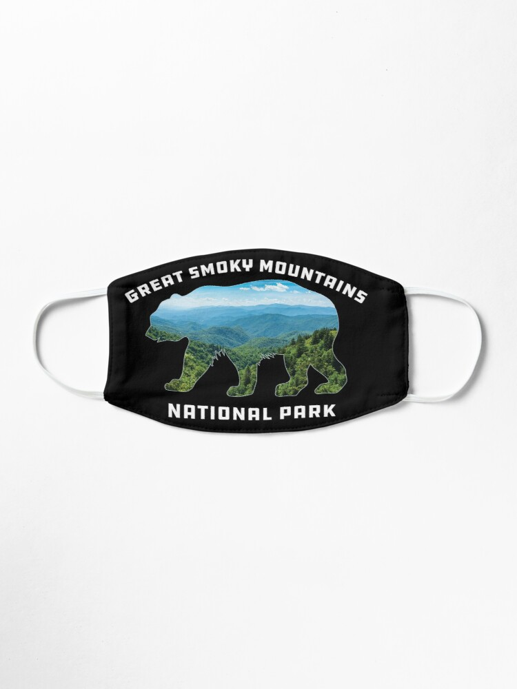 Alternate view of Great Smoky Mountains National Park vintage bear souvenir Mask