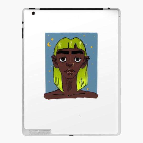 Girl with neon hair iPad Skin