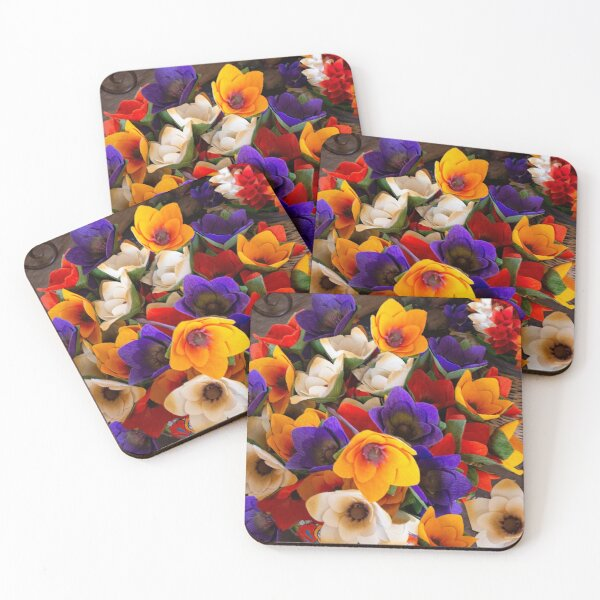 Flowers For Sale Coasters (Set of 4)