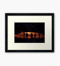 Night Nutters strike again-3 Framed Print
