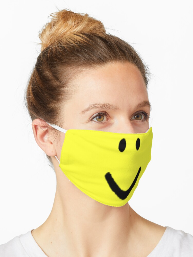 Roblox Halloween Noob Face Costume Smiley Positive Gift Mask By