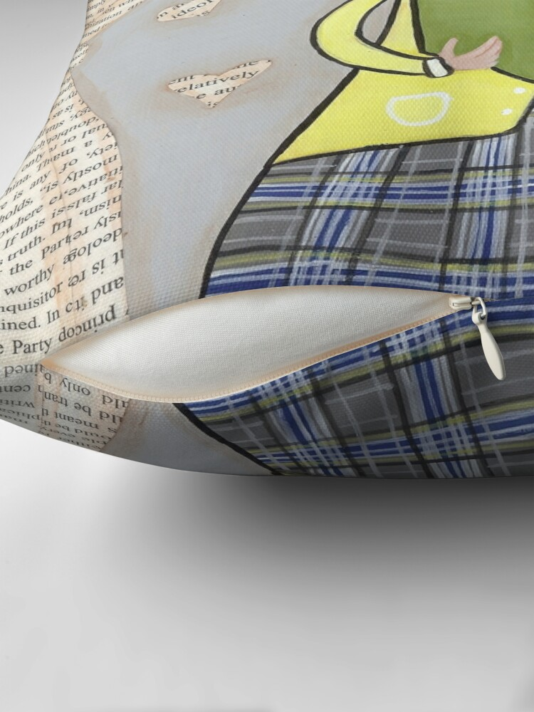 Alternate view of The Reader Throw Pillow