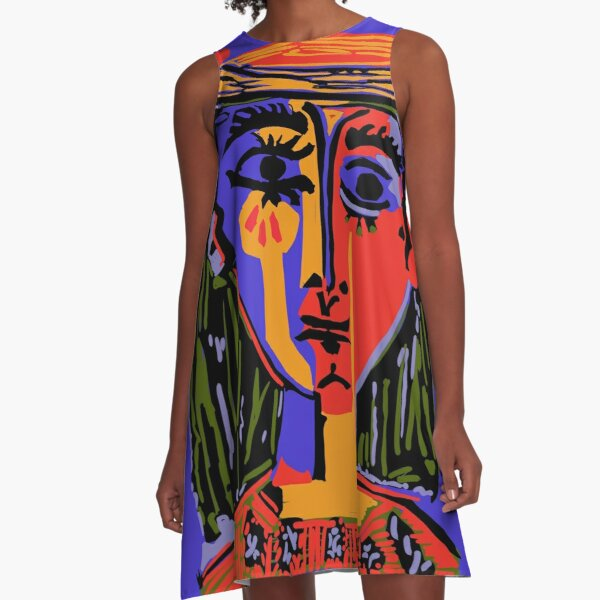 Picasso - Woman's head #4b A-Line Dress
