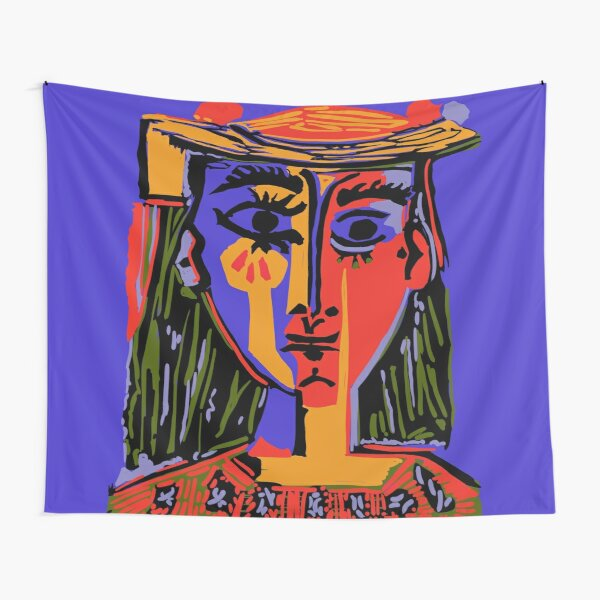 Picasso - Woman's head #4b Tapestry