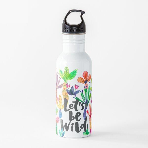 iPhone Cases Patterns Jungle tropical garden - Fun palms pattern Water Bottle