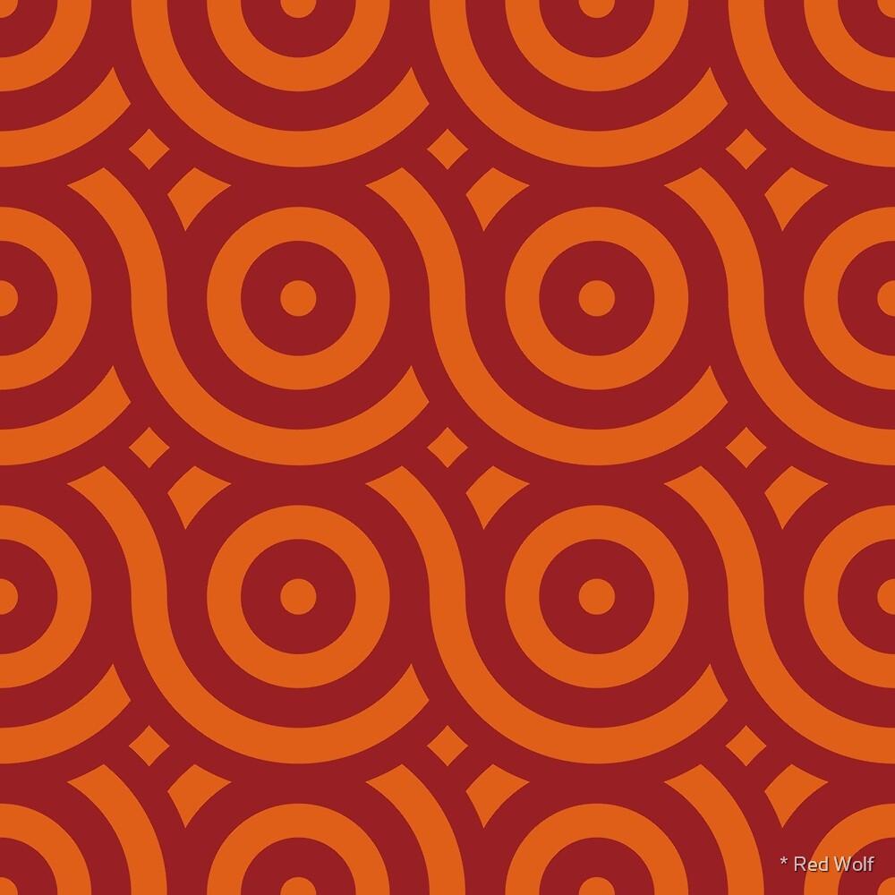 Geometric Pattern: Loop: Blood Orange by * Red Wolf