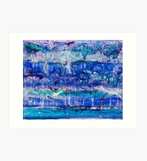 Ebb and Flow - Acrylic and Lenses on canvas Art Print