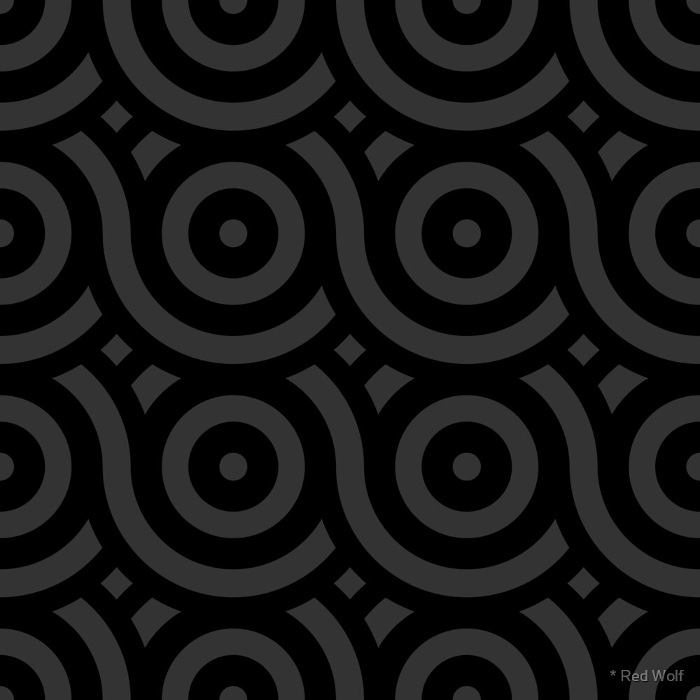 Geometric Pattern: Loop: Charcoal by * Red Wolf