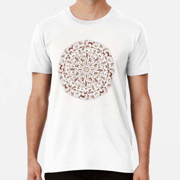 Mandala de arte rupestre Camiseta premium