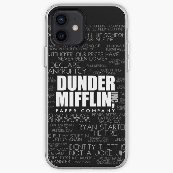The Office™ Quotes Dunder Mifflin Inc.  iPhone Soft Case