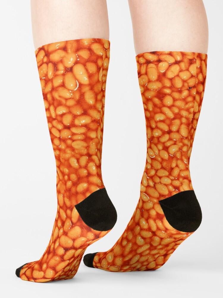 Alternate view of Beans In Things Pattern Socks