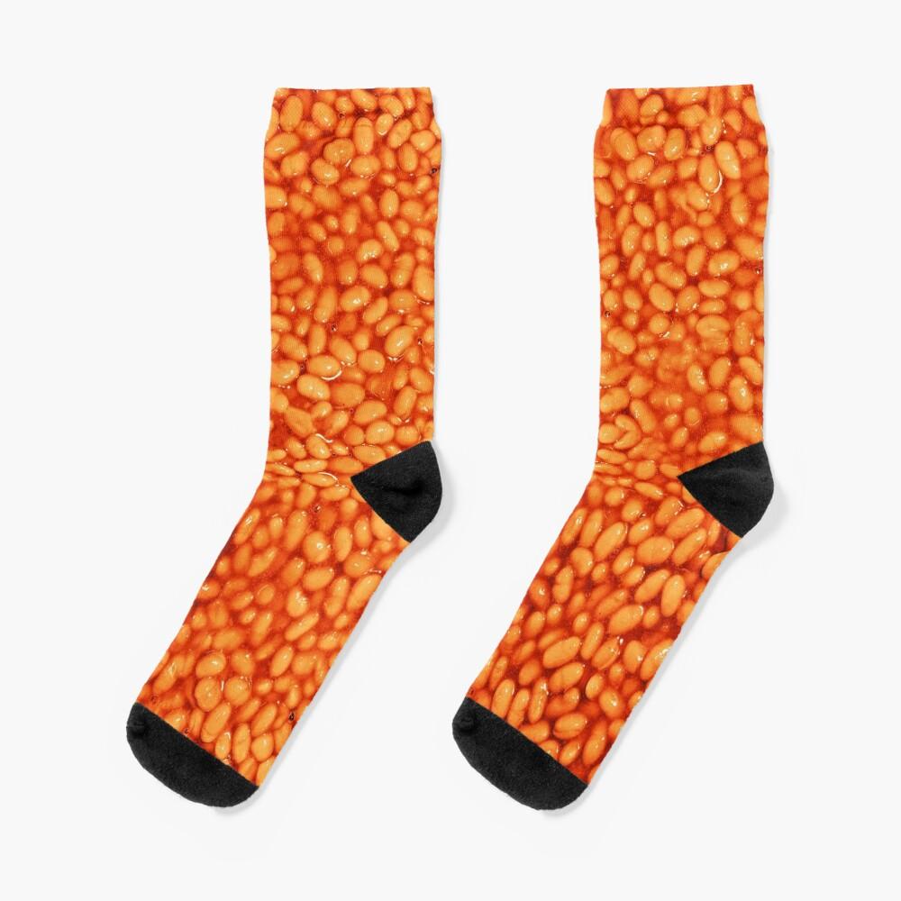 Beans In Things Pattern Socks