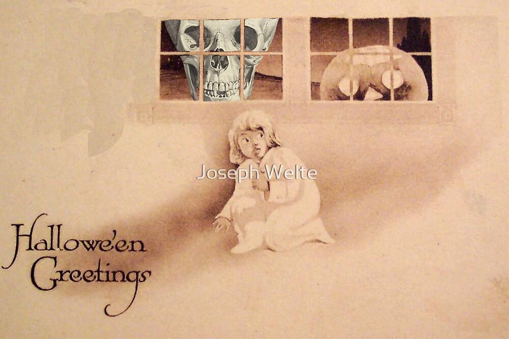 Wrong Shoulder... (Vintage Halloween Card) by Joseph Welte