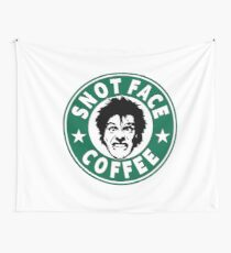 Snot Face Coffee Wall Tapestry