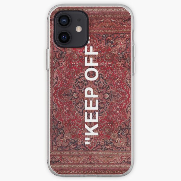 """KEEP OFF"" - Antique Orian rug iPhone Soft Case"