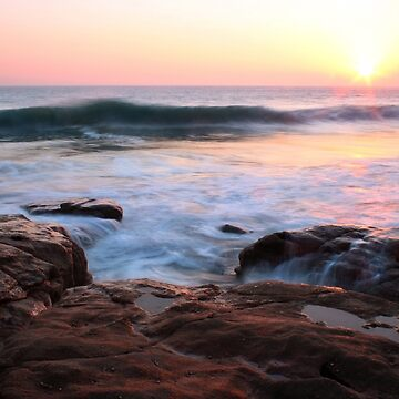 Sonnenuntergang bei Rinsey Cove, Cornwall von Andrew-Hocking
