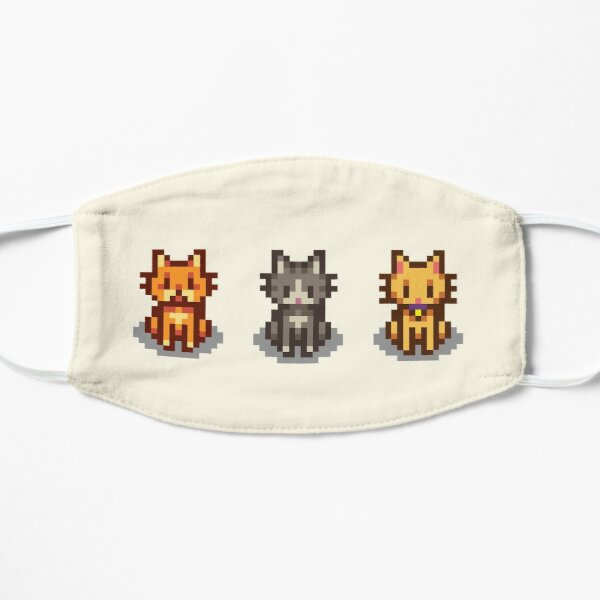 Stardew Valley Pets: 3 Cats Flat Mask
