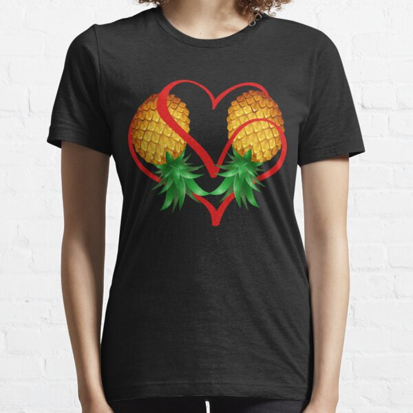 Couple Swinger Upside Down Pineapple with Heart Essential T-Shirt