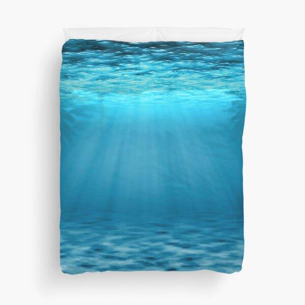 Blue Ocean Underwater Scene Duvet Cover