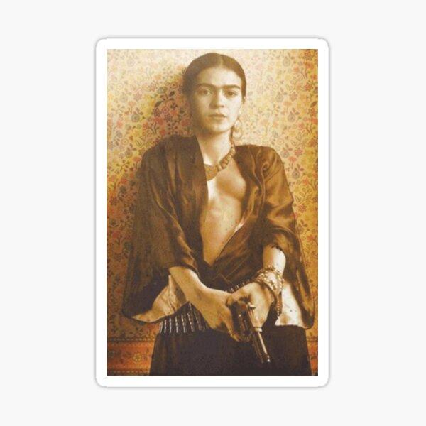 Frida khalo gun  Sticker