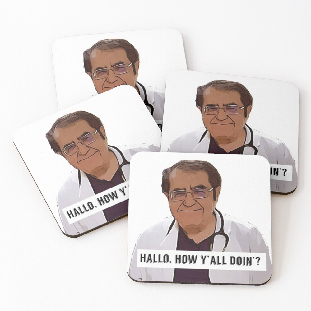 Dr Now - Hallo, how ya all doin, digital artwork Coasters (Set of 4)