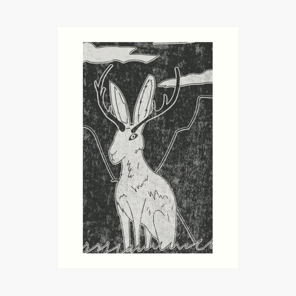 Jackalope Print Art Print