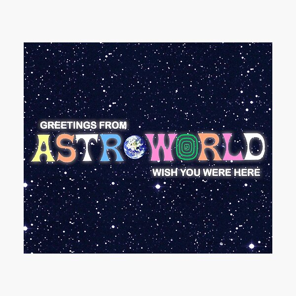 Greetings from, Astro fan cover Photographic Print